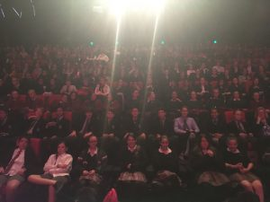 low light picture taken of a full auditorium from the stage at Melbourne Writers Festival